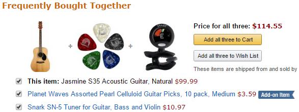 Amazon cross selling example