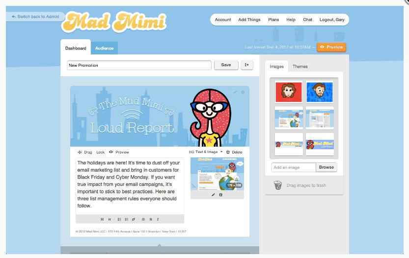 email marketing platform mad mini