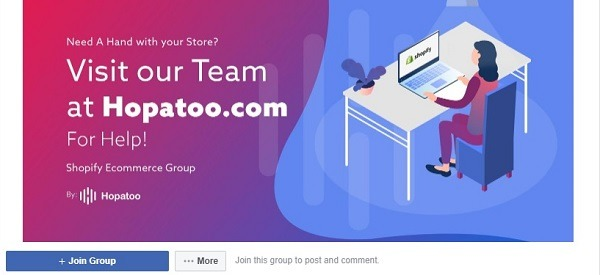 Shopify ecommerce group facebook