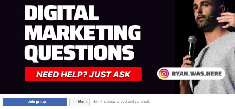 digital marketing questions facebook group