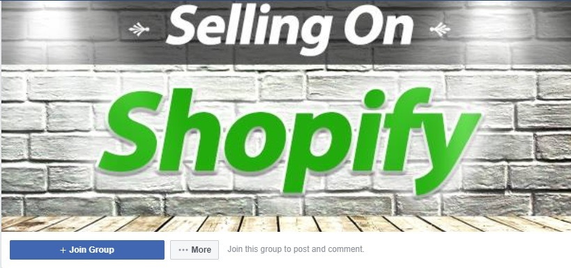 selling on shopify group facebook