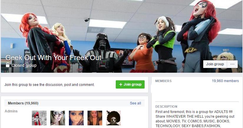 Facebook geek groups