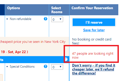 example of online hotel booking