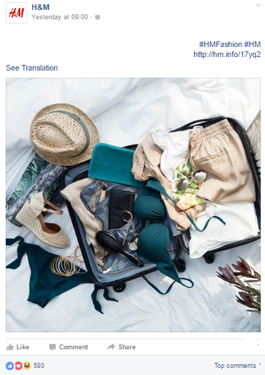 H&M Summer Trends on Facebook