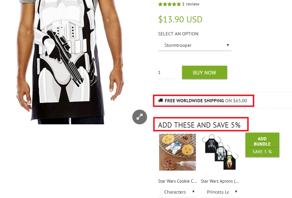 example of ecommerce upsell techniques
