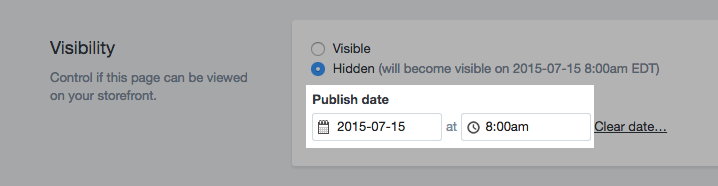 how to schedule product launches on Shopify