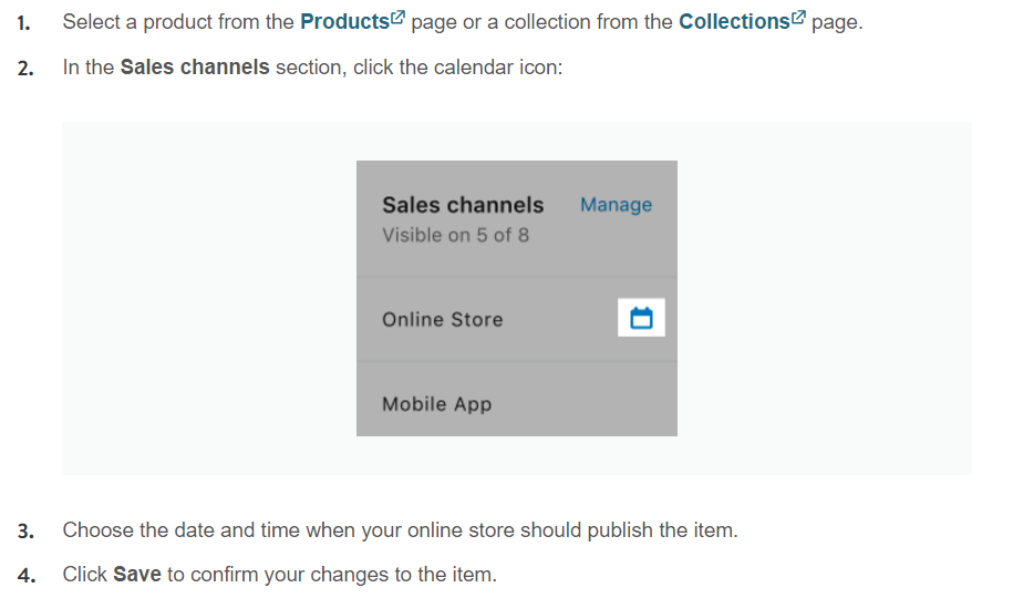 Product Scheduling on Shopify