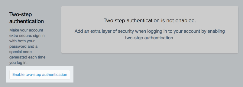 Shopify two-step authorization