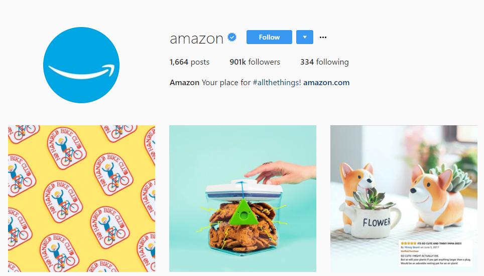 amazon instagram account