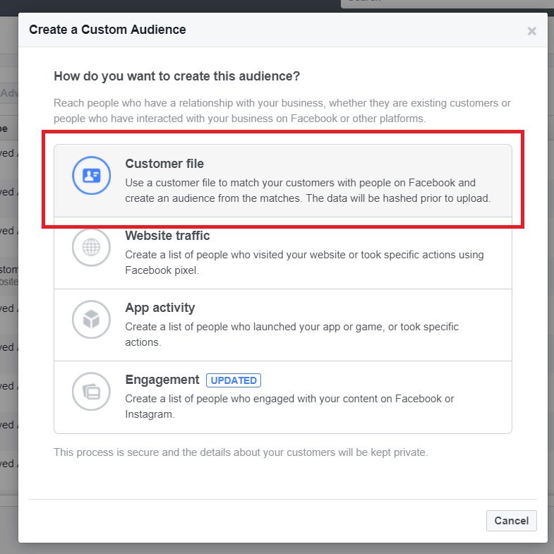 How to upload custom files to facebook