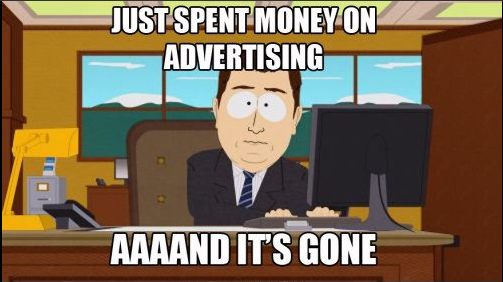 eCommerce meme about ad spend
