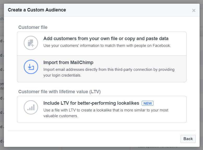 Importing customer files into Facebook custom audiences