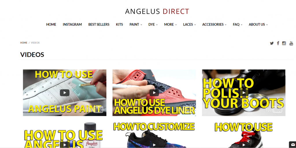 ecommerce example of good content strategy