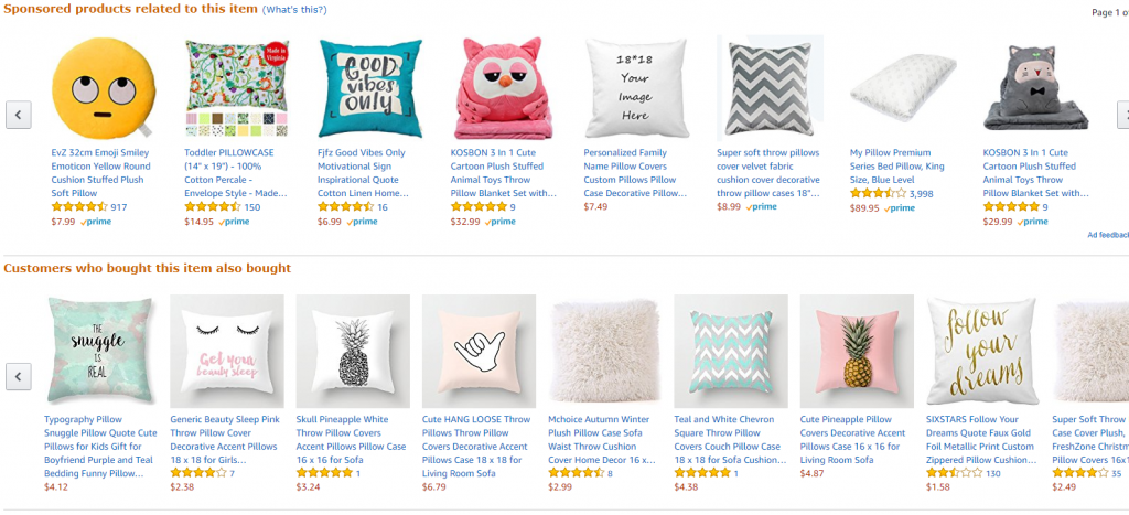 ecommerce related products example