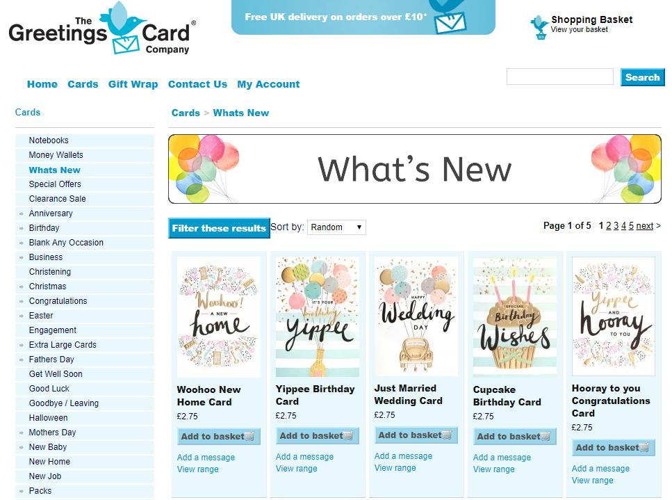 Greet Card online store