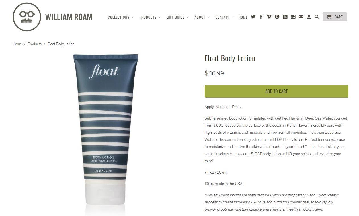 William Roam Online Store