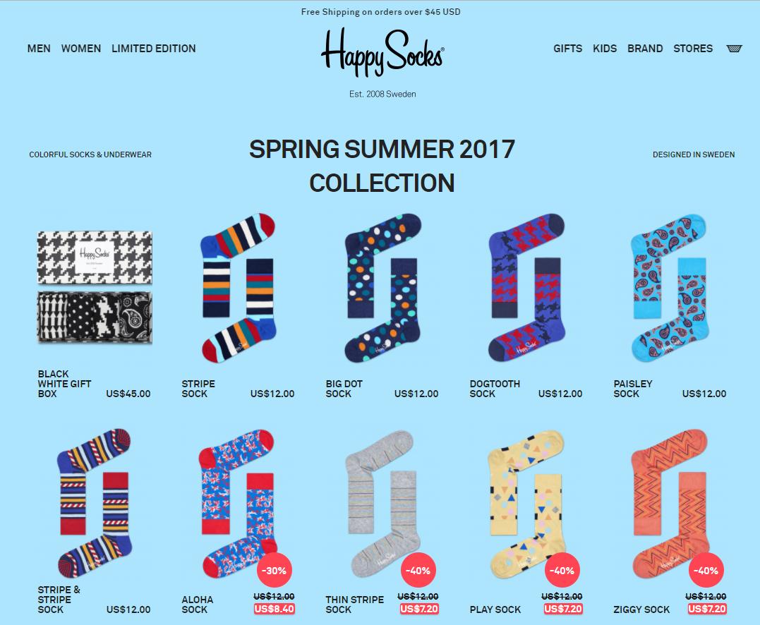 happy socks online store