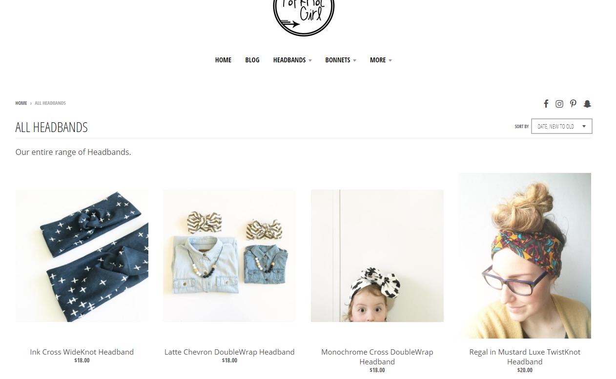 headband girl online store