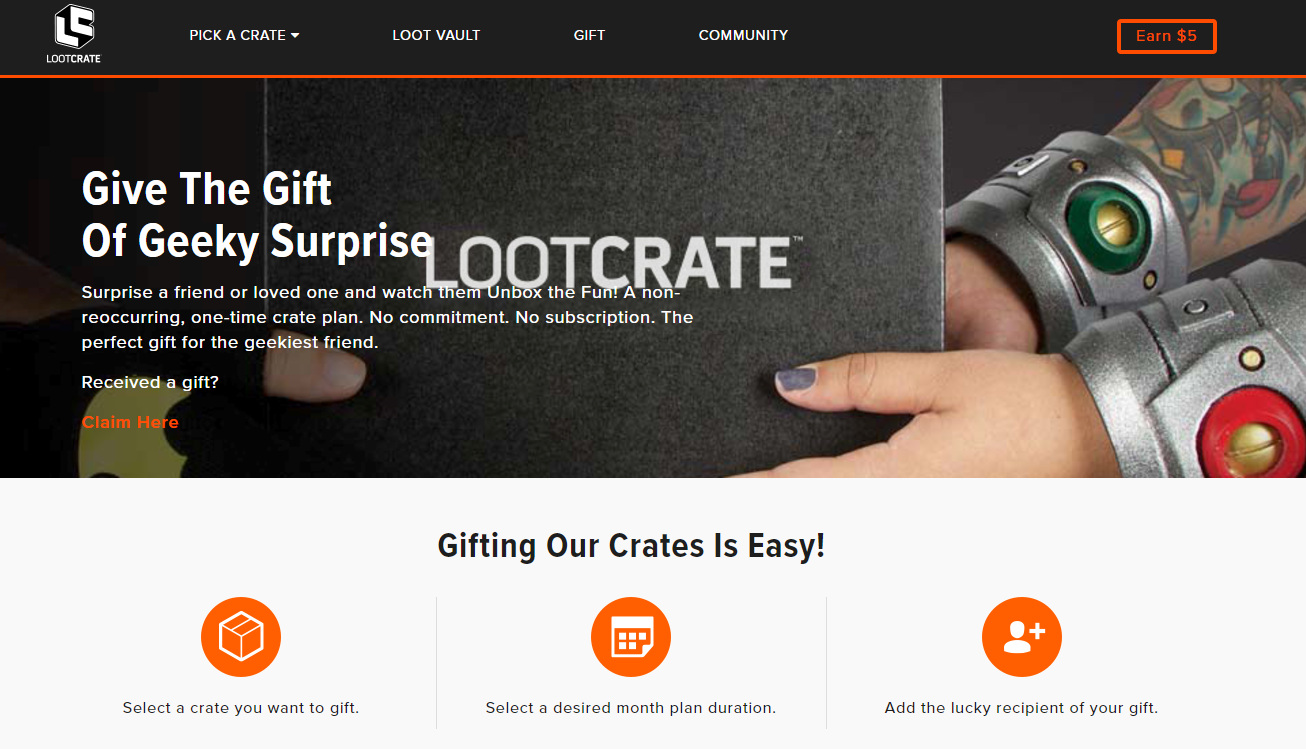 Loot crate online store