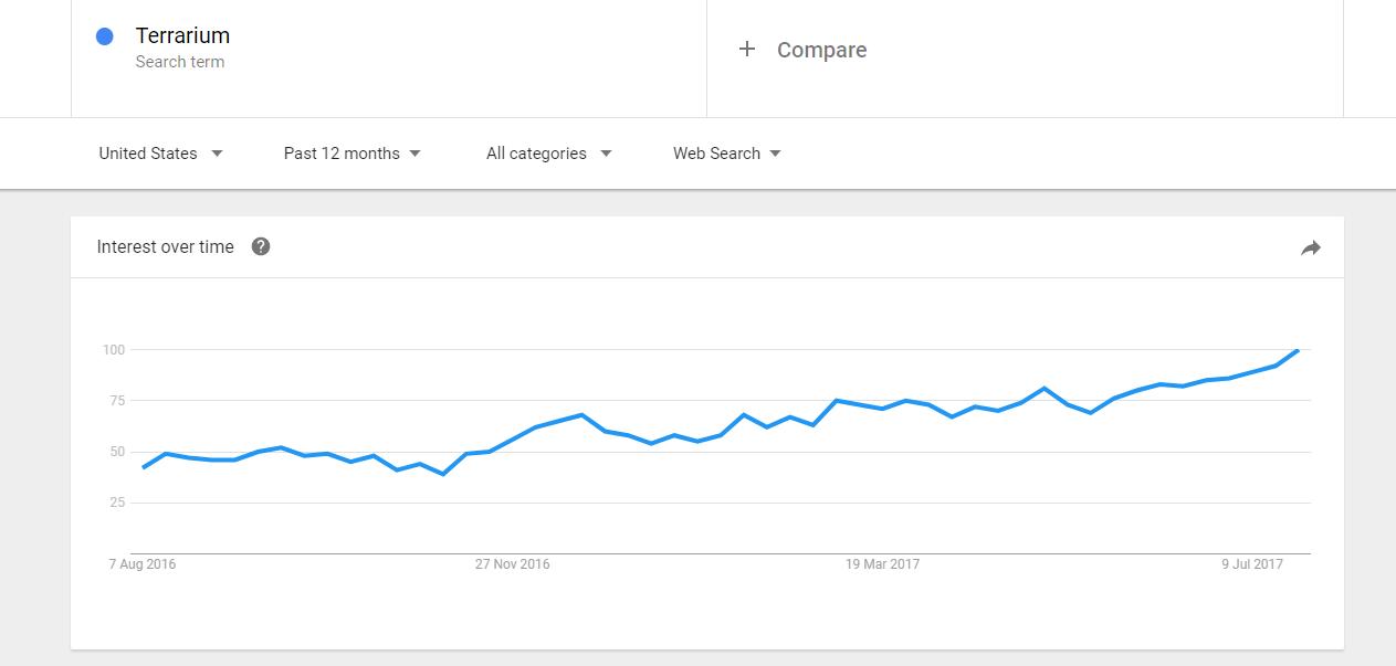 terrariums on Google trends