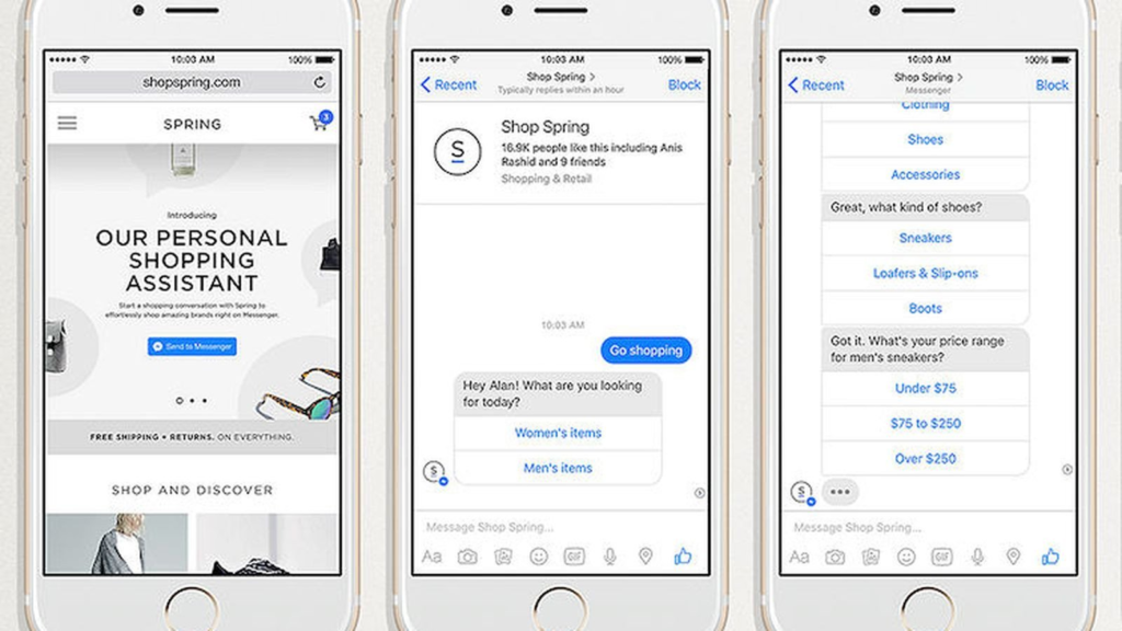 example of facebook messenger ads in newsfeed