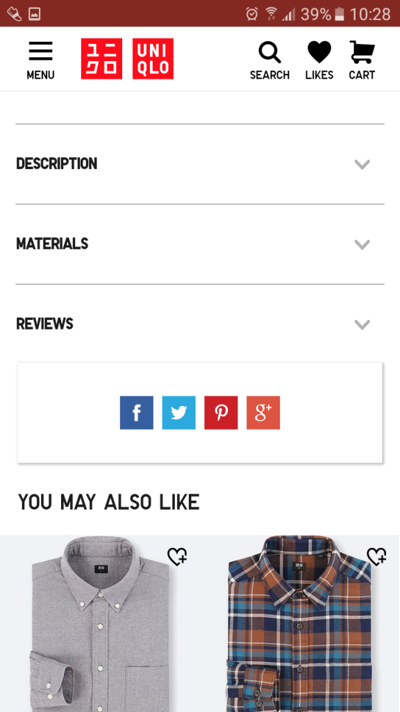 mobile optimized product pages