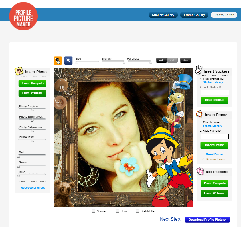 how to make a framed profile picture for your business page