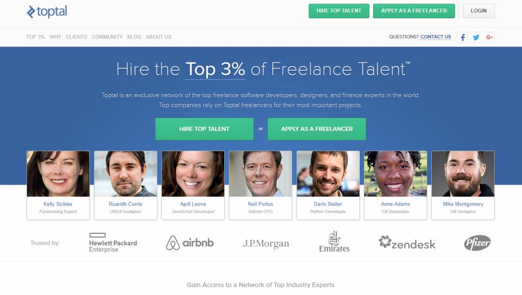 find a freelancer on Toptal