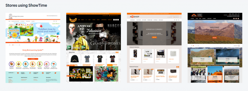 stores using Shopify themes
