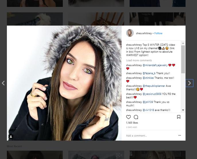 selling winter coats on Instagram