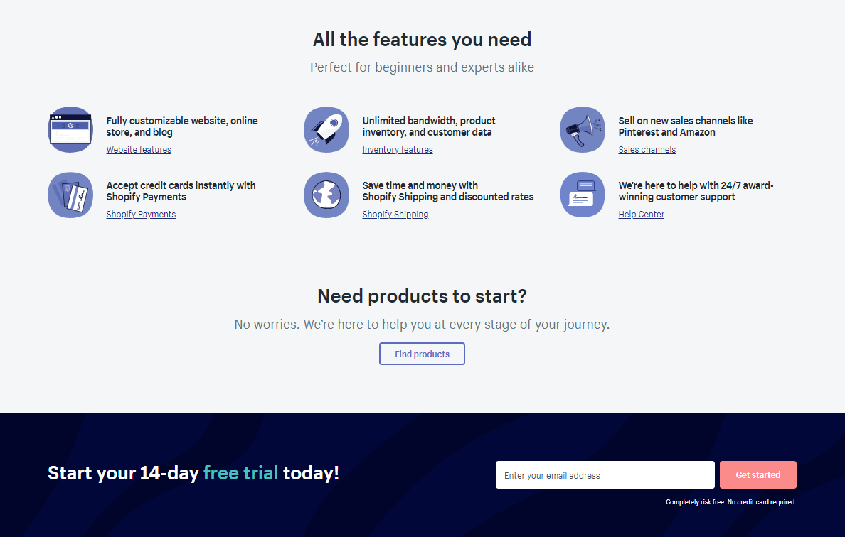 shopify free trial options