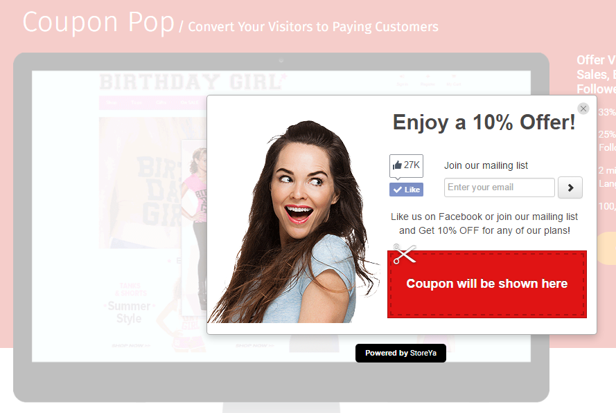 add social pop ups on your store