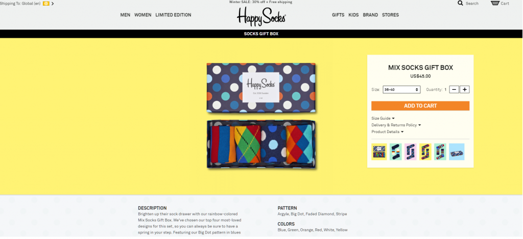 eCommerce store with good packaging