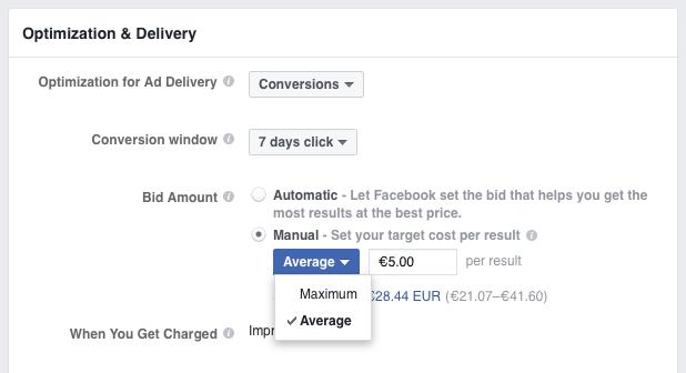 Adjusting Facebook bids