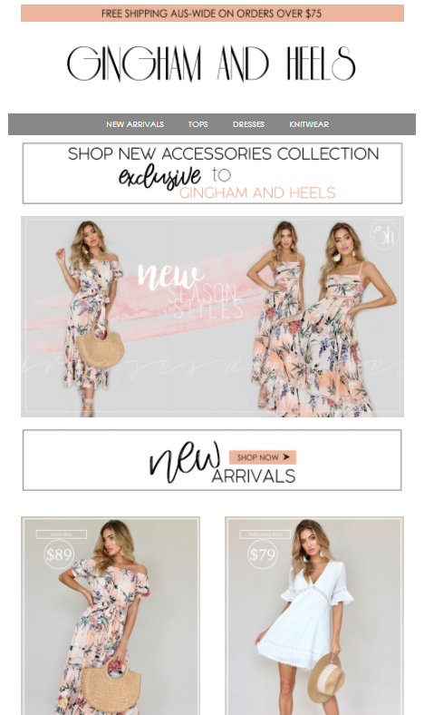 examples of good marketing emails for eCommerce