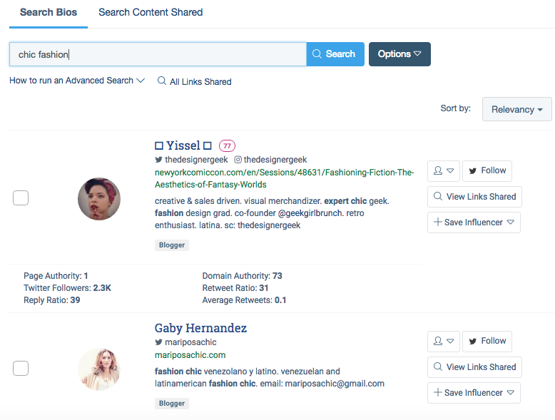 how to find niche influencers by keyword