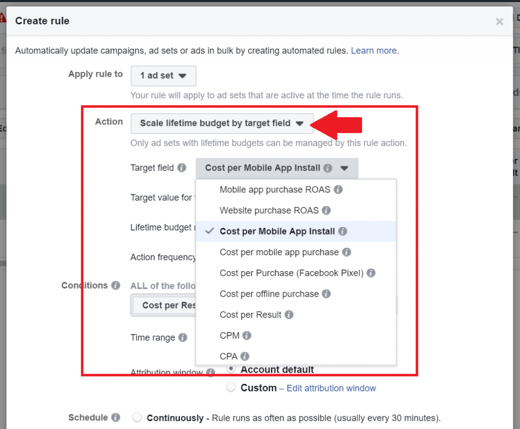 how to create facebook automation rules