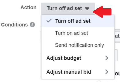 automation rules - action