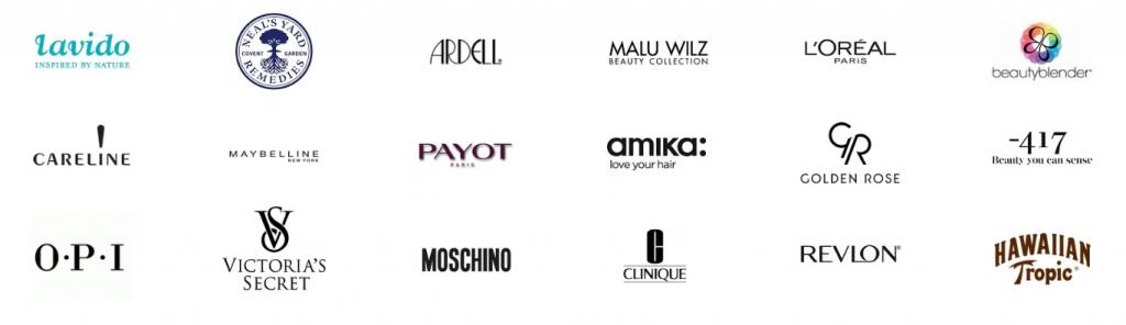 beauty brands on glam guru