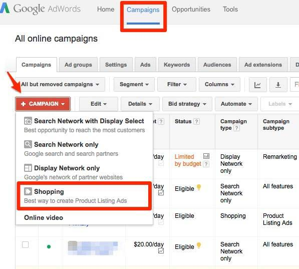 Advertising Options and Features for Google Shopping Campaigns