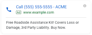 call-only Google campaigns