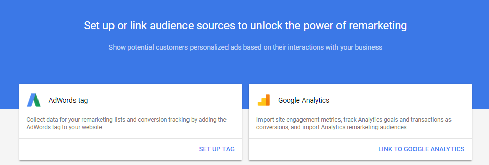 Step 2: Create your AdWords tag