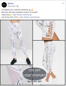 google example of ecommerce facebook ad