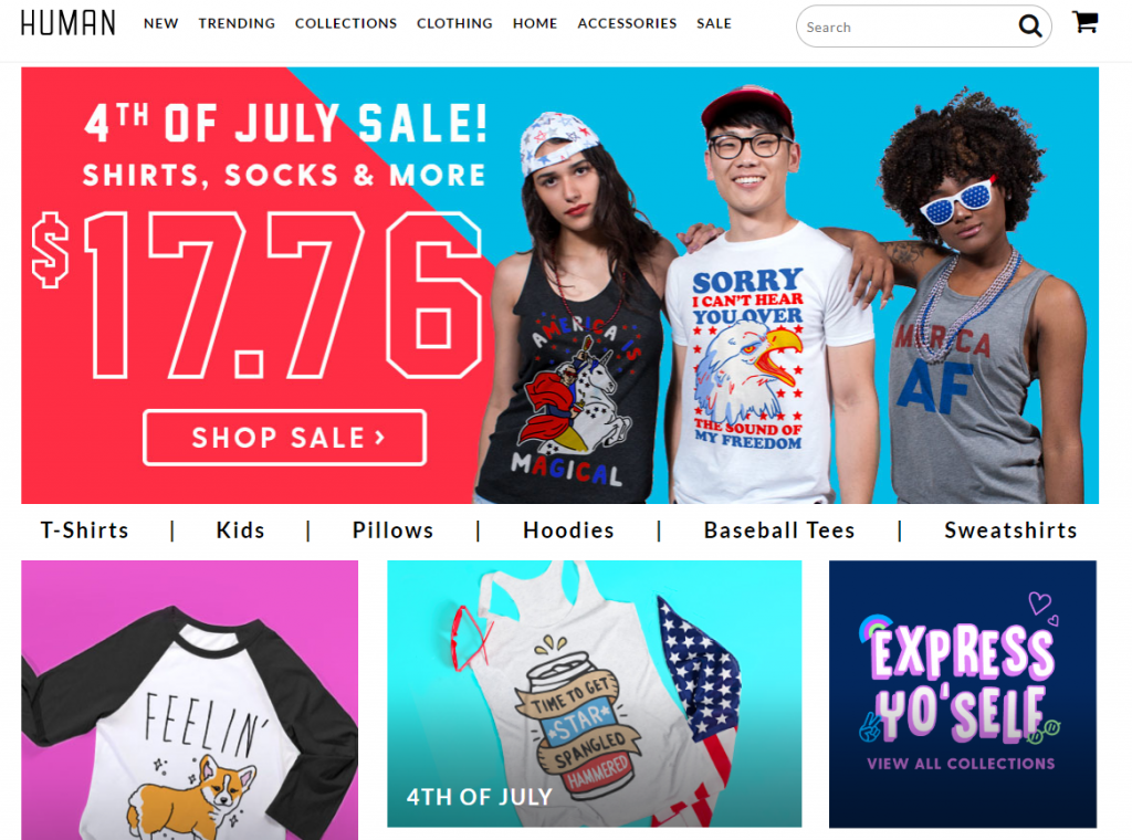 good example of eCommerce home page