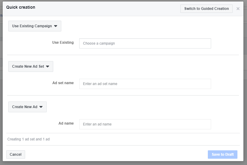 use existing campaign with facebook to drive likes