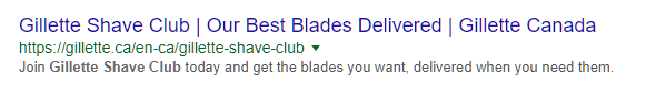 google ad without sitelinks