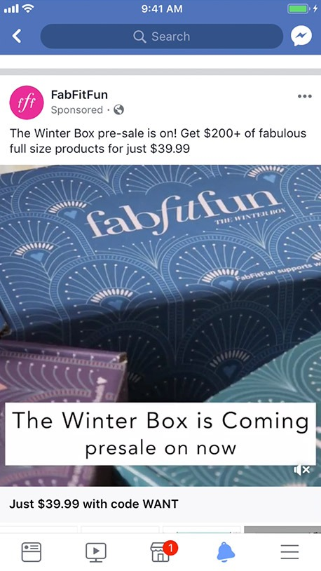 fitfabfun collection ad example
