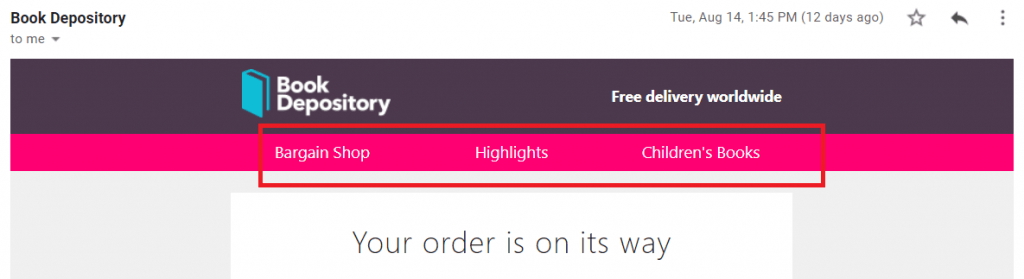 good example of order confirmation emails