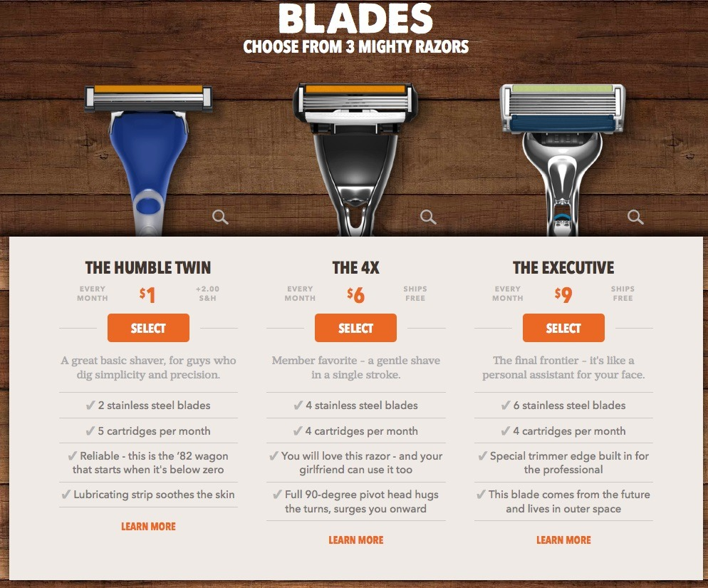 example of good marketing email from Dollar Shave