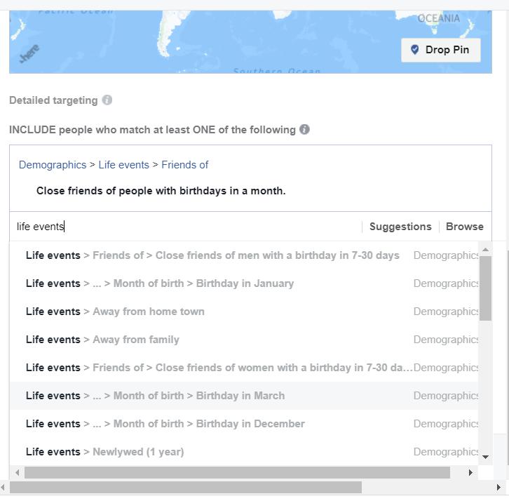 google life-event targeting